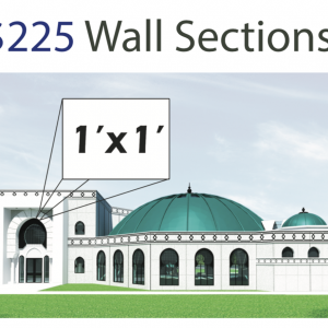 Wall Section Prayer Hall (1 Square Foot)