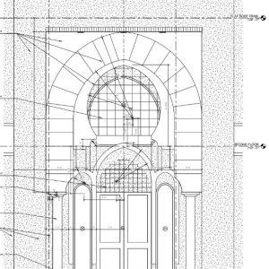 Women's Entrance Columns and Facade